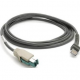 Zebra Scanner Cables and Adapters ZEB-CBAU23S07ZBR Front View
