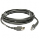 Zebra Scanner Cables and Adapters CBA-U30-S15ZBR Front View