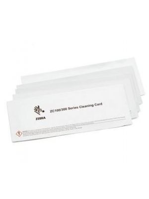 Pair of zebra cleaning cards