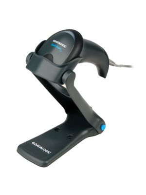 Datalogic QW2100 QuickScan I Lite Hand Held Scanner placed in stand