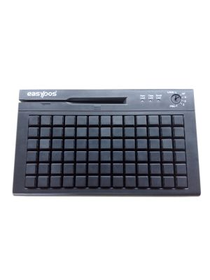 EasyPos 78 Keys USB Programmable Black Color Keyboard Front View