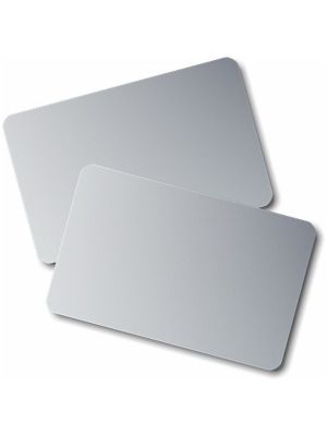 PVC Plain Silver ID Card