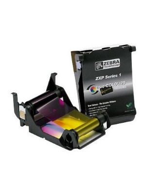 Zebra 800011-140 ID Card Ribbon ZXP Series 1 Load-N-Go YMCKO Color Ribbon