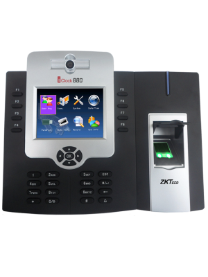 ZKTeco iClock Time & Attendance Reader- Front View